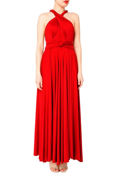 red multiway dress