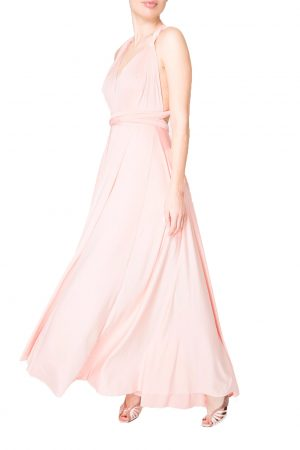 peach multiway dress