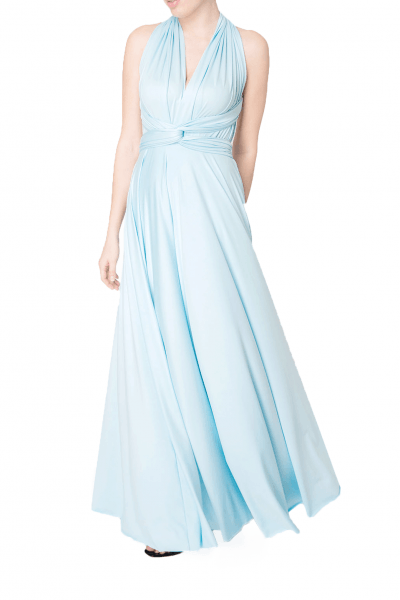 baby blue multiway dress