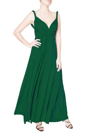dark green multiway dress