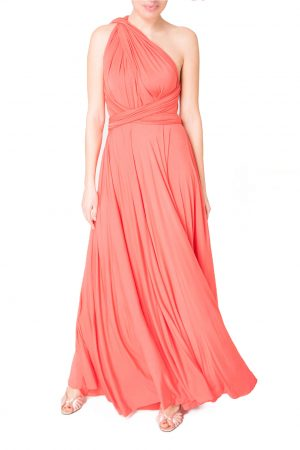 coral multiway bridesmaid dress