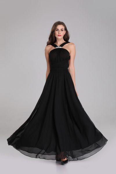 black chiffon multiway maxi dress