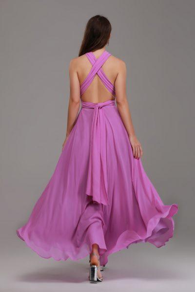 mauve purple bridesmaid dresses