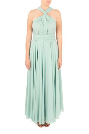 chiffon multiway dress duck egg blue bridesmaid dress