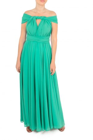 emerald green multiway dress