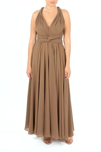 taupe multiway dress