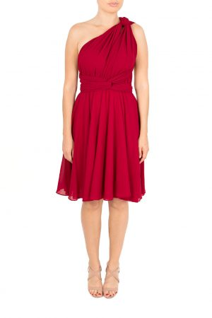 burgundy multiway dress