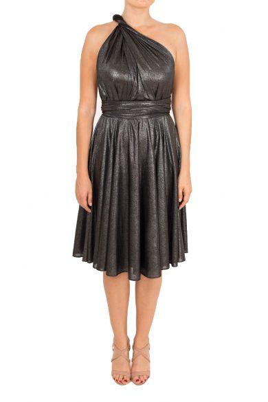silver shimmer short dress