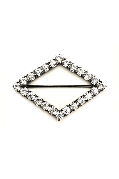 Diamond shaped diamante buckle