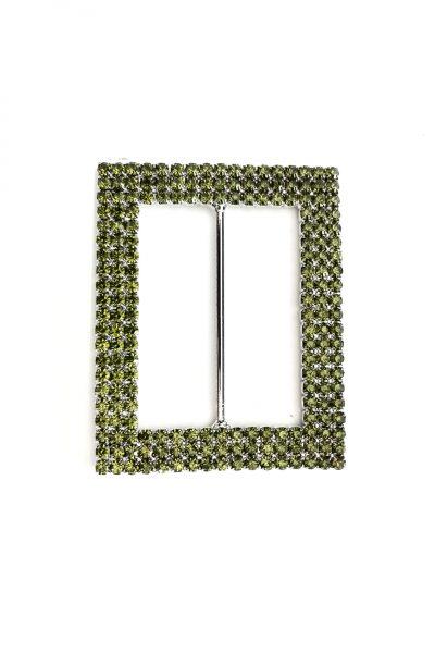 Green rectangle diamante