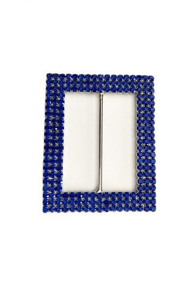 Rectangle blue buckle