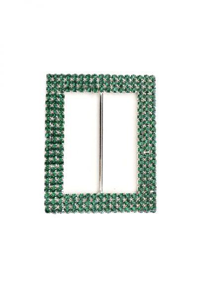 Rectangle diamante green