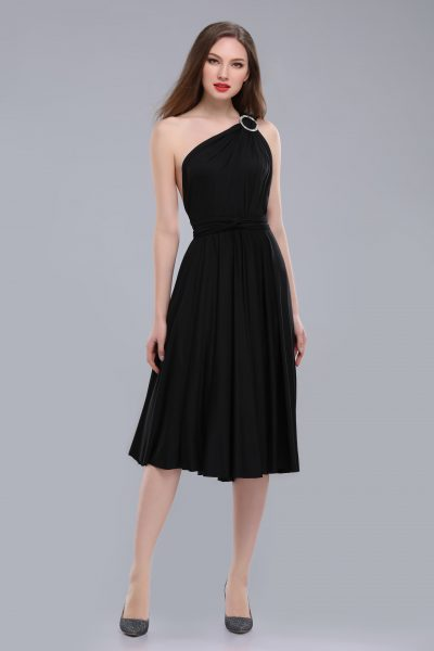 Victoria Midi Multiway Black Dress