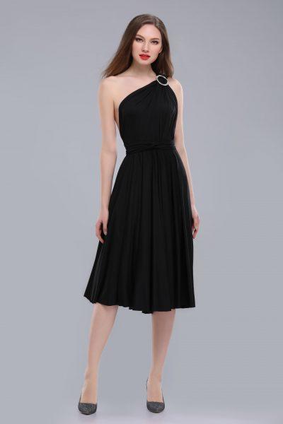 Victoria Midi Multiway Black Dress